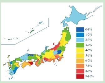 県 自然 少ない 災害 の