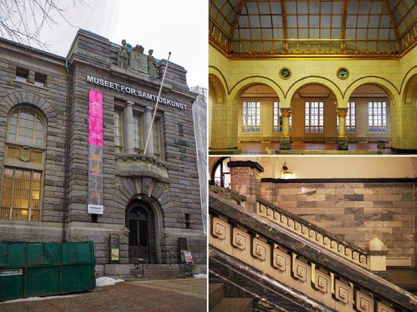 1906年に建てられ、1988年に美術館に改修された旧ノルウェー銀行本社。階段手すりなどに独特の装飾が見られる